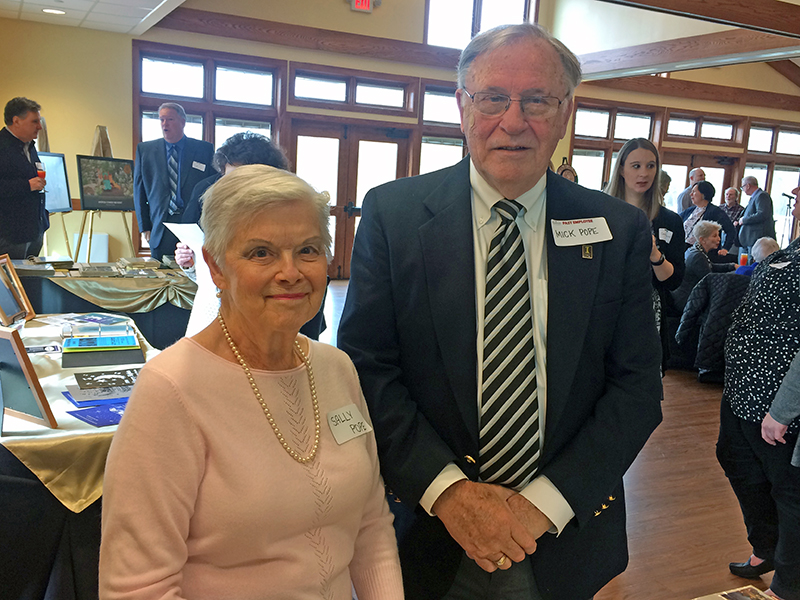 Sally and Mick Pope joined the 50th anniversary celebration for the H-F Park District. He was the district's first executive director.