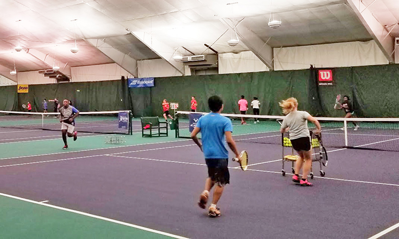 Started as a tennis club with six courts, the H-F Racquet & Fitness Club has expanded to house 10 indoor courts.