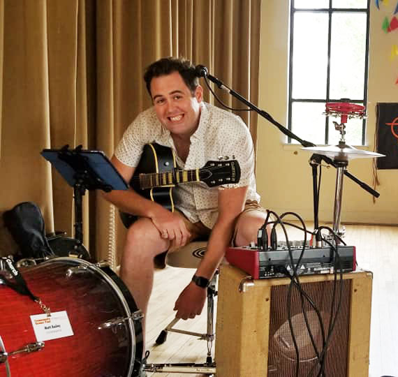 One-man band MG Bailey will perform at the Flossmoor Community Church block party Friday night. Bailey is a co-organizer of the event, which will raise money to help maintain the church's community house.