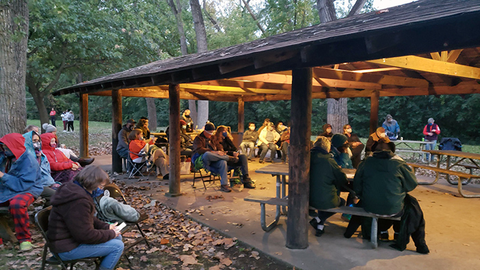 A concert under a pavilion in Izaak Walton Nature Preserve in October 2020 helped set the pattern for this year's concert series. (Provided photo)