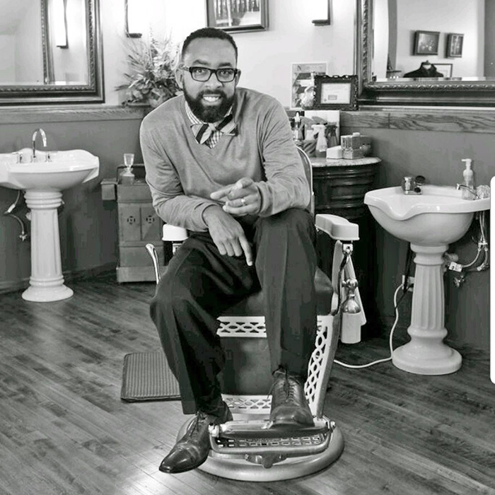Mike Miller, owner of Yesterday's Gentleman, a barbershop in downtown Flossmoor, keeps tradition alive. (Provided photo)