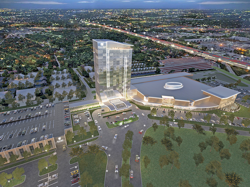 An artist's rendering of the proposed casino and entertainment complex at Halsted Street and Interstate 80/294 in Homewood and East Hazel Crest. (Provided image courtesy Wind Creek Hospitality)