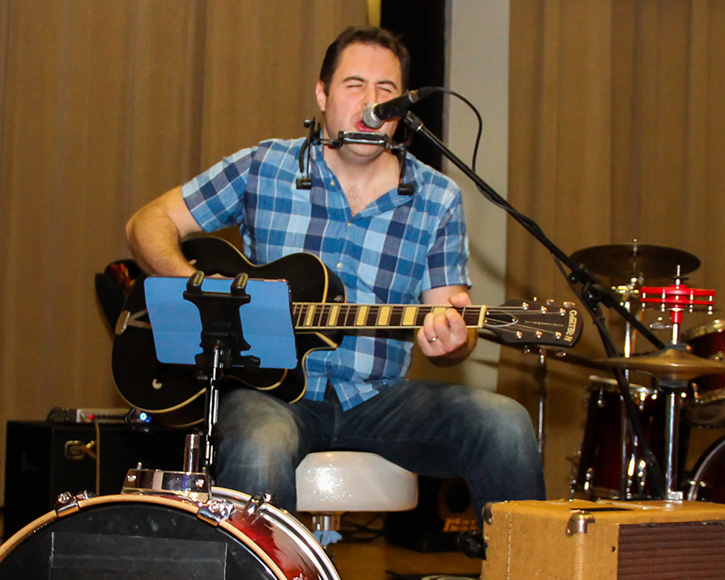 One-man band M.G. Bailey performs during the 2017 FCC talent show. Bailey, with Brooke King LaBreck, helps organize the event.