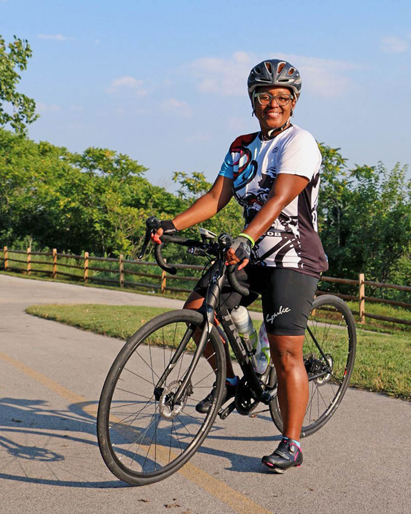 Kathy Gray is a leader of Black Girls Do Bike, a group that introduces women of color to cycling. (Provided photo)