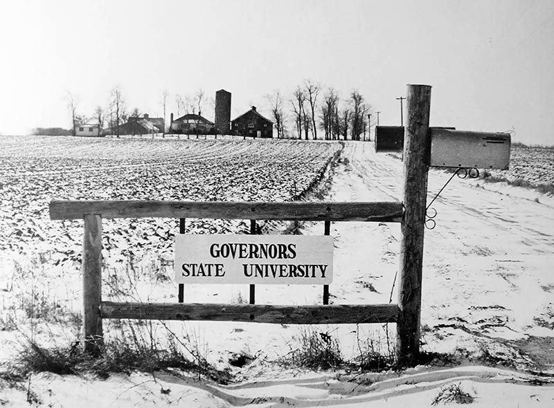 Governors State University started 50 years ago with 750 acres of Will County farmland. (Provided photo)