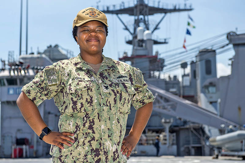 Petty Officer 3rd Class Christine Hughes. (Provided photo by Mass Communication Specialist 2nd Class Anna Van Nuys)
