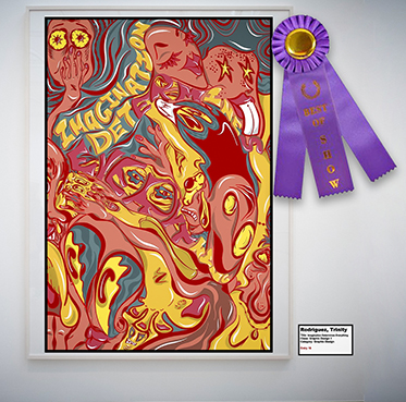 """Trinity Rodriguez won the Best of Show award for her piece """"Imagination Determines Everything"""" announced at the National Art Honor Society awards program. (Provided photo)"""