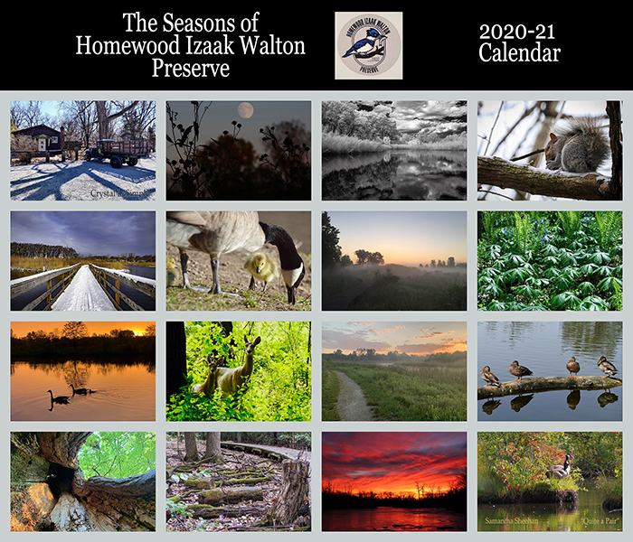A collage of the photos that were selected to be in the Izaak Walton Nature Preserve's new calendar. (Provided image)