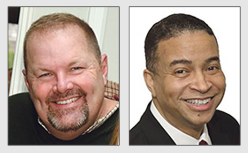 Incumbent Sen. Patrick Joyce (D-40th) was selected in 2019 by Democratic committeemen to fill the seat formerly held by Sen. Toi Hutchinson. Eric Wallace, who is challenging Joyce, has run for public office, but has not secured a post. (Submitted photos)
