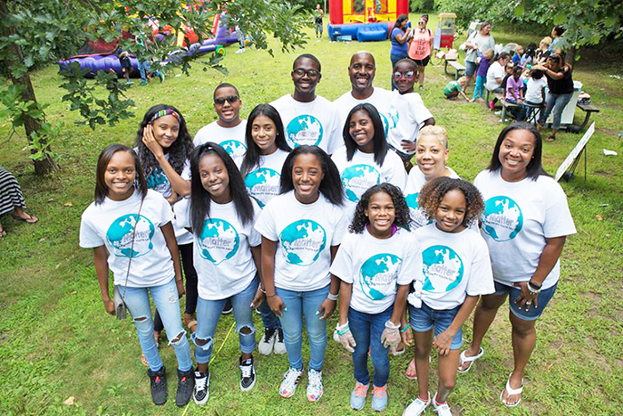 Destiny Watson, front row center, is surrounded by members of the You Matter 2 organization. The youth empowerment group is taking the lead on organizing a Homewood-Flossmoor Juneteenth festival in 2021. (Provided photo)