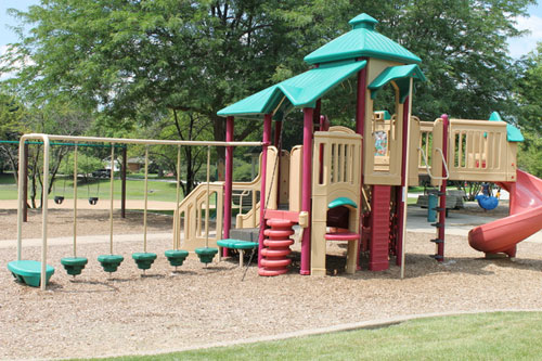 While Leavitt Park in Flossmoor offers play equipment and ball fields, H-F Park District Commissioners are considering whether to create a space that will attract students from nearby Parker Junior High. (Provided photo)