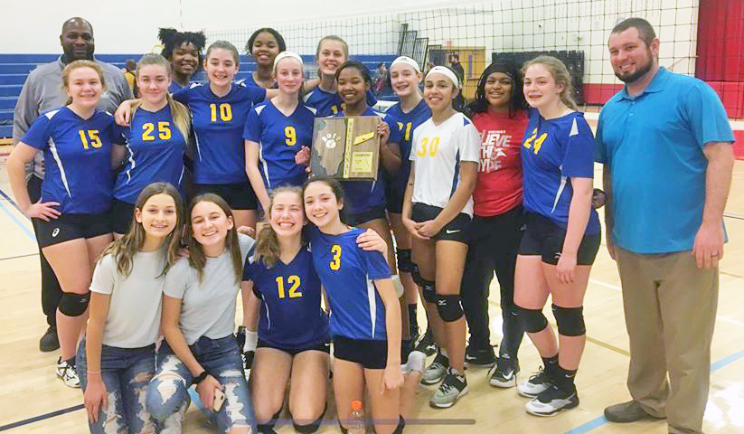 The Parker Junior High eighth grade volleyball team is heading to state competition for the fifth year in a row. (Provided photo)