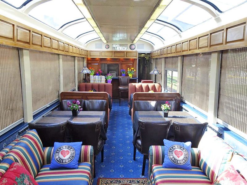 Traveling in style is the theme of the trip June 8 on a 1950s rail car. (Provided photo)