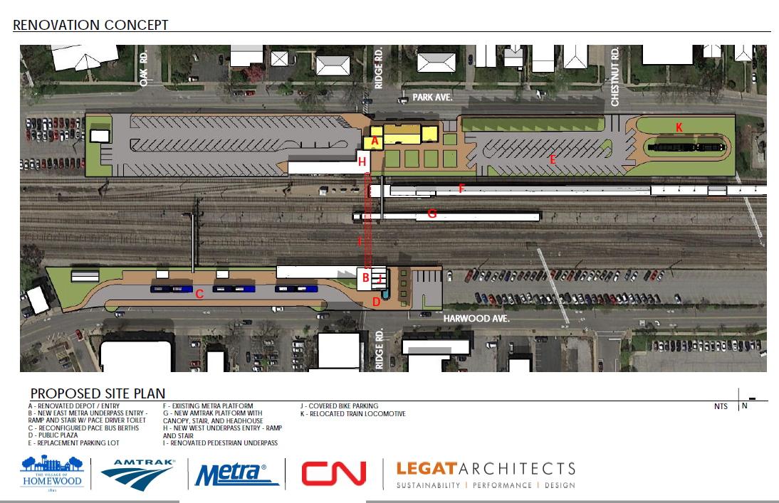 Metra: New plan would address most Homewood train station