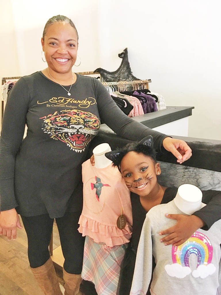 Kelly Evans named her boutique clothing shop Love, Noa after her daughter, Noa. The store is at 1044 Sterling Ave. in downtown Flossmoor.   Photo by Carole Sharwarko