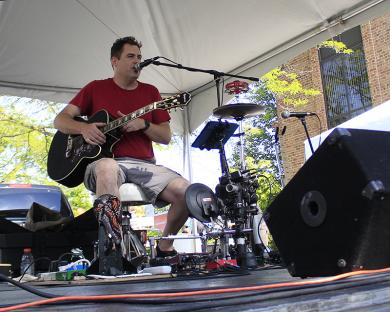 MG Bailey took the lead-off position in the fair's musical lineup.