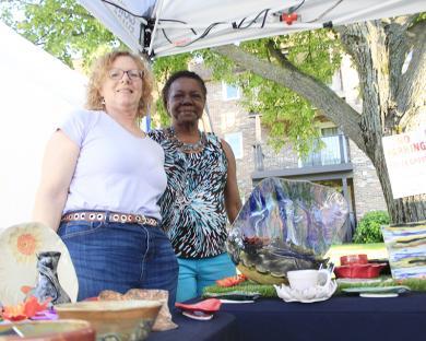 Ellen Kane and Joyce Riley of Village Artists in Homewood.