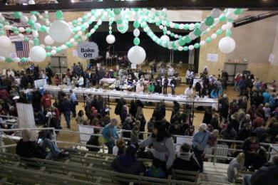 The H-F Park District auditorium was full of vendors and chocolate lovers Saturday.