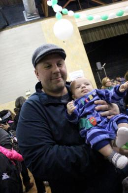 Jeff Wendt, with a future chocolate lover in arms, talks about his first visit to Homewood's annual winter event.