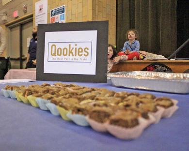 Nick Quirke offered Qookies as his entry in the Chocolate Fest Bake-Off.