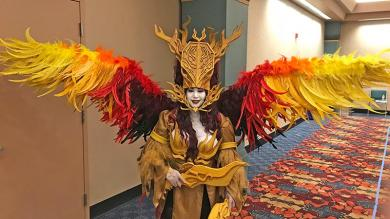 "This costume of a Japanese character from a board game won Monica Paprocki the ""best in craftsmanship"" award at GenCon 2018. (Provided photo)"