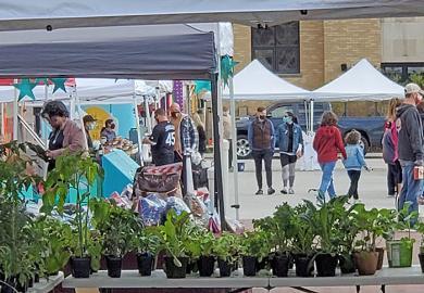 The Homewood Farmers Market opened the summer season on Saturday, May 8. (EC)