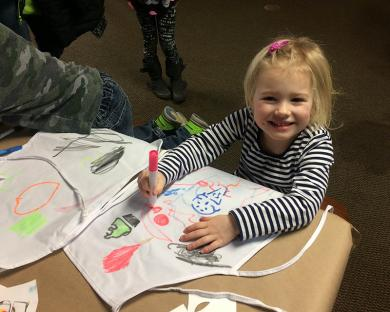 Allison Burke, 4, of Chicago was having a great time at the Homewood Science Center's kids events for Chocolate Fest on Feb. 17. (MT)
