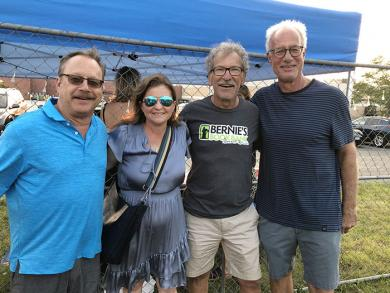 Michelle Nelson, Flossmoor mayor and member of the Homewood Science Center board of directors, is with, from left, Larry Kluger, Keith Frank and Neal Goldberg.