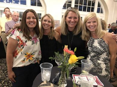 Friends enjoying the evening July 18 at the Homewood Science Center's fundraiser are, from left, Stephanie Wright, Katie Sullivan, Jen Ermshler and Maggie Bachus.