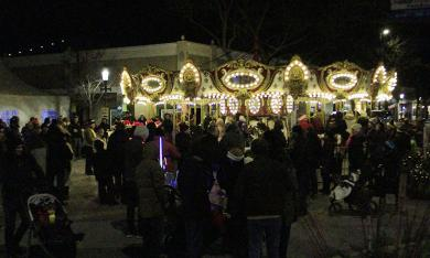 The carousel in the intersection of Ridge Road and Martin Avenue was a popular new addition to the festival.