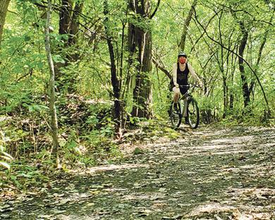 Cycling is another common activity in the preserve.