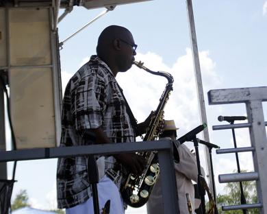 Music was a big part of the festival, with six bands slated to perform throughout the day. (EC)