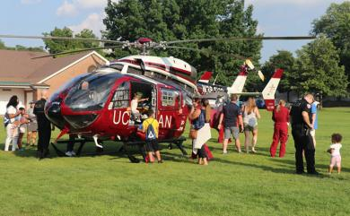 The UCAN medical helicopter visit is the highlight of the event for many local youngster. (JG)