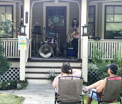 """The Jack Bodie band performs """"Sarah"""" at a home on Dixie Highway. (NJ)"""