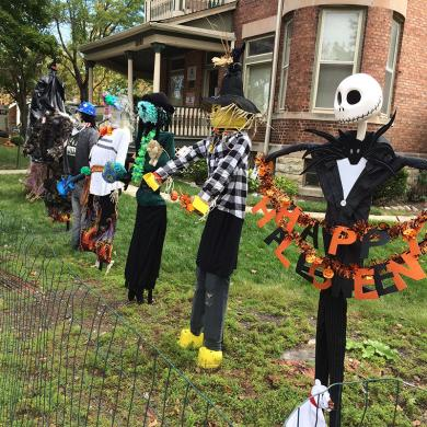 These were among the 15 scarecrows judged in the Homewood Beautification Committee's annual scarecrow contest Saturday as part of Homewood's Fall Fest.