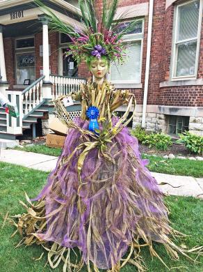 Fall Fairy was the winner in the Homewood Beautification Committee's annual scarecrow contest. It was created from corn stalks by Jen Sesto of Art4Soul.