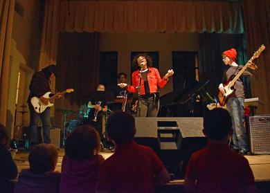 TiMELeSS Band, a teen rock band whose members are Homewood-Flossmoor High School students, rocked the Flossmoor Community Church's second annual ShowOff talent show.