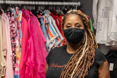 Tonya Byrd Neeley runs the women's clothing store Wired the Design Boutique at Gypsy and Company. (ABS)