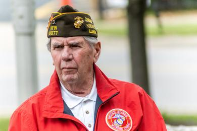 Veteran John Beele, who served in the U.S. Marine Corps, has organized the Homewood Memorial Day ceremony for more than 30 years. (ABS)