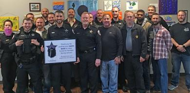Thirty-five Homewood police officers raised more than $23,000 for Cancer Support Center in just one month.