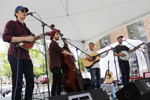 The Wandering Boys play bluegrass and Americana during the early afternoon set.