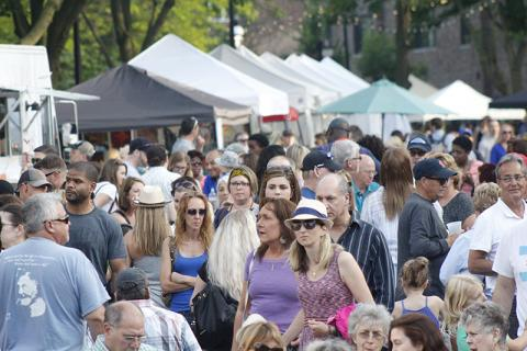Local residents and people from around the region descended on downtown Homewood on Friday and Saturday for the first Artisan Street Fair.