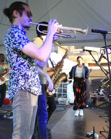 Funk band Nasty Snack concludes the day's music.