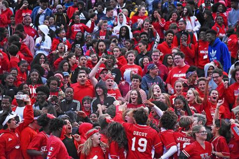 A large crowd was on hand for the homecoming game on Friday.